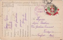 1917 POSTA MILITARE/96 C.2 (13.9) Su Cartolina Franchigia - 1900-44 Victor Emmanuel III