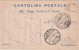 1915 82 REGGIMENTO FANTERIA Viaggiata Posta Militare 17 Divisione - 1900-44 Victor Emmanuel III