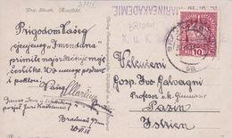 AMIX50  --  STEMPEL K. U. K. MARINEAKADEMIE  ( POLA )  --  1918  VON BRIONI NACH PAZIN, ISTRIA - Austria