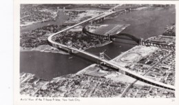 New York City Aerial View Tribooro Bridge Real Photo - Ponts & Tunnels