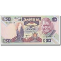 Billet, Zambie, 50 Kwacha, 1986-1988, KM:28a, NEUF - Zambia