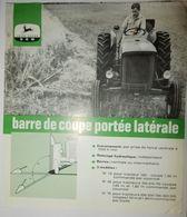 DOCUMENT PUBLICITAIRE JOHN DEERE LANZ MATÉRIEL AGRICOLE BARRE DE COUPE LATERALE - Do-it-yourself / Technical