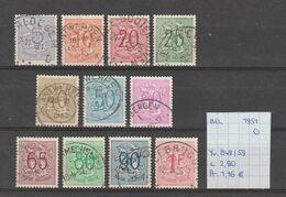 België 1951 - Yv./OCB 849/59 Gest./obl./used - Belgium