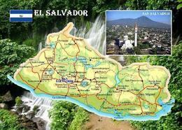 El Salvador Country Map New Postcard Landkarte AK - Salvador