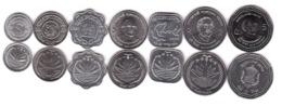 Bangladesh - Set 7 Coins 1 5 10 25 Poisha 1 2 5 Taka 1974 - 2013 UNC Lemberg-Zp - Bangladesh