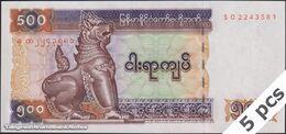 TWN - MYANMAR 79 - 500 Kyats 2004 DEALERS LOT X 5 - Prefix SO UNC - Myanmar