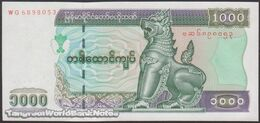 TWN - MYANMAR 80 - 1000 1.000 Kyats 2004 Prefix WG UNC - Myanmar