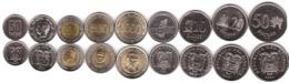 Ecuador Set 9 Coins 50 Centavos 1 5 10 20 50 100 500 1000 Sucres 1988 - 1997 UNC Lemberg-Zp - Ecuador