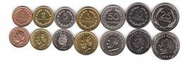 El Salvador - Set 7 Coins 1 2 3 5 10 25 50 Centavos 1972 - 1994 UNC / AUNC Lemberg-Zp - El Salvador