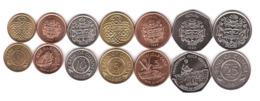 Guyana - Set 7 Coins 1 5 10 25 Cents 1 5 10 Dollars 1978 - 1996 AUNC Lemberg-Zp - Guyana