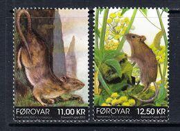 2013 Faroe Islands Rodents Complete Set Of 2 MNH @ Below Face Value - Faroe Islands