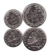 Liberia - Set 2 Coins 25 50 Cents 2000 UNC Lemberg-Zp - Liberia