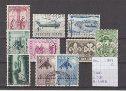 België 1957 - Yv./OCB 7 Sets Gest./obl./used - Belgium