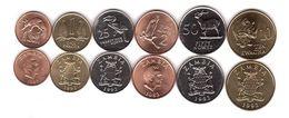 Zambia - Set 6 Coins 1 2 25 50 Ngwee 1 10 Kwacha 1983 - 1992 UNC Lemberg-Zp - Zambia