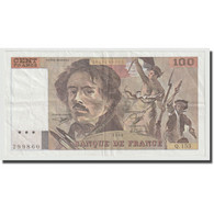 France, 100 Francs, Delacroix, 1990, TTB+, Fayette:69bis.2a, KM:154e - 1962-1997 ''Francs''