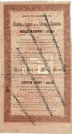Titre Ancien - Société Des Chemins De Fer De Namur à Liège Et De Mons à Manage -Titre De 1858 -  Rare - - Chemin De Fer & Tramway