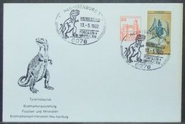 Germany - Cover 1992 Dinosaur Fossil Mineral Fair - Timbres