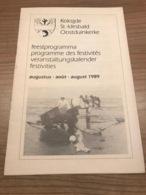 Koksijde St-Idesbald Oostduinkerke Feestprogramma 1989 - Oostduinkerke