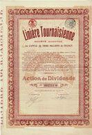 Titre Ancien - Linière Tournaisienne - Société Anonyme - Titre De 1923 - - Textile