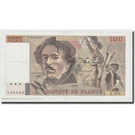 France, 100 Francs, Delacroix, 1991, TTB, Fayette:69bis.4c, KM:154f - 1962-1997 ''Francs''