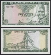 SAMBIA - ZAMBIA 2 Kwacha Banknote (1974) UNC (1) Pick 20a   (21115 - Bankbiljetten