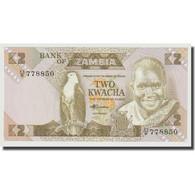 Billet, Zambie, 2 Kwacha, 1980-1986, KM:24c, NEUF - Zambia