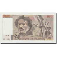 France, 100 Francs, Delacroix, 1991, SPL+, Fayette:69bis.4a, KM:154f - 1962-1997 ''Francs''