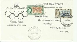 BAHAMAS 1964 OLYMPIC SET FDC - Bahamas (...-1973)