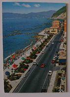 CHIAVARI (Genova) - La Passeggiata - Auto, Cars, Parking - Citroen DS, Fiat 850, Fiat 500, Lancia, Alfa Romeo - VG L3 - Genova (Genua)