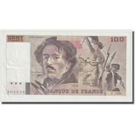 France, 100 Francs, Delacroix, 1990, SPL, Fayette:69bis.02e1, KM:154e - 1962-1997 ''Francs''