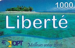 NEW CALEDONIA - Island, Liberte By OPT Prepaid Card 1000 CFP, Exp.date 31/12/08, Used - Neukaledonien