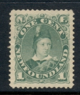 Newfoundland 1880-96 Prince Edward VII 1d Green MUH - 1865-1902