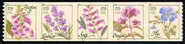 Etats-Unis / United States (Scott No.4517a - Wild Flowers) [**] Coil Strip Of 5 - United States
