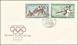 Czechoslovakia - 1960 - Winter Olympic Games 1960 - FDC - Winter 1960: Squaw Valley