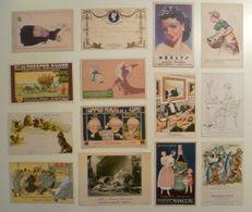 CPA / Lot De 14 Cartes Postales Anciennes Publicitaires /Hemostyl Javel Jehan Pinaud Azote Orelys Patauberge Gyraldose - Reclame