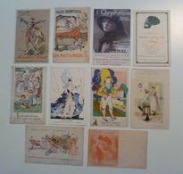 CPA / Lot De 10 Cartes Postales Anciennes Publicitaires /a - Reclame