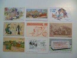 CPA / Lot De 9 Cartes Postales Anciennes Publicitaires /a - Reclame