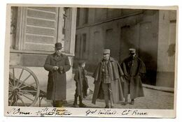 Photo De Militaires : SAINT-OMER, M. Roux Institut Pasteur, Général Vuillard, Commandant Roux. - Guerre, Militaire
