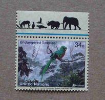 NY01-01 : Nations-Unies (New-York) / Protection De La Nature - Quetzal Resplandissant (Pharomachrus Mocinno) - Unused Stamps