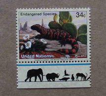 NY01-01 : Nations-Unies (New-York) / Protection De La Nature - Monstre De Gila (Lézard Venimeux) - Unused Stamps