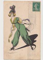 Cpa   Dessinée Signée G.Mouton /  Mode .Femme . - Illustrateurs & Photographes