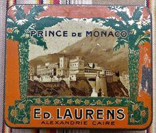 Ancienne Boite A Cigarettes PRINCE DE MONACO  ED. LAURENS AEXANDRIE - CAIRE Egypte - Etuis à Cigarettes Vides