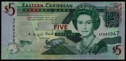 EASTERN CARIBBEAN 2008 5 DOLLARS UNC !! - Oostelijke Caraïben
