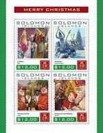 SOLOMON ISLANDS - 2016 - Christmas - Perf 4v Sheet - M N H - Solomon Islands (1978-...)
