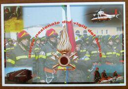 Firefighters - Vigili Del Fuoco - Elicottero CARTOLINA Non Viaggiata - Regimente