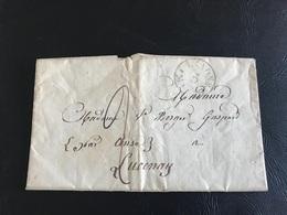 Courrier - 1828 - LYON à LUCENAY - Marcophilie (Lettres)