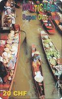 Schweiz  Phonecard   Multicards Thailand Floating Market BKK - Svizzera