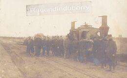 CPA PHOTO - MILITARIA 1914-1916 - Beau Plan De TRAIN En GARE CLICHE ANONYME, Corresp Poilu 1916 Affecté Station Gare - Estaciones Con Trenes