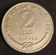 MALDIVES - 2 RUFIYAA 1995 - KM 88 - Coquillage Triton Géant - Maldive