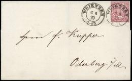 1869, Altdeutschland Norddeutscher Postbezirk, 16, Brief - Norddeutscher Postbezirk (Confederazione Germ. Del Nord)